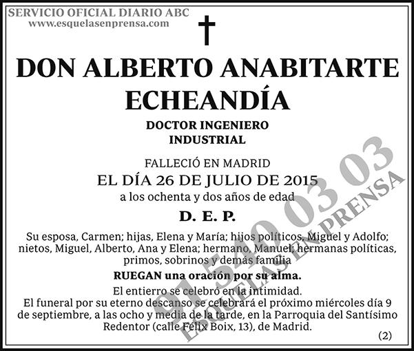 Alberto Anabitarte Echeandía